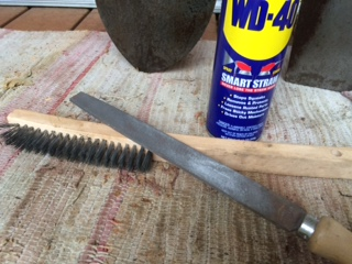 "WD-40, 10"" File and a wire brush...the essentials"
