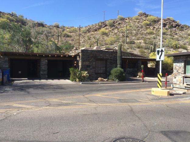 This is the first Park I visited and the buildings here are indicative of those I've seen elsewhere well cared for and designed to fit into the landscape utilizing native regional stone.  This is at the main gate to the South Mountain Preserve.