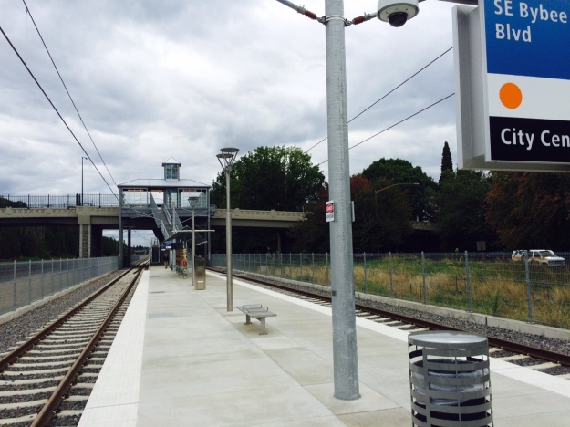 The north end of the platform looking toward Bybee.