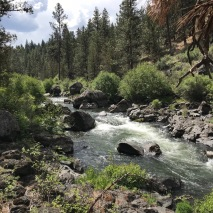 Before the regulation dams were built to limit stream flow by the local irrigation districts, now managed by the federal Bureau of Reclamation, the Deschutes flowed more irregularly with the seasons, occasionally flooding and washing more of the canyon bottom.
