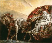 A print made by William Blake, God Judging Adam, 1795