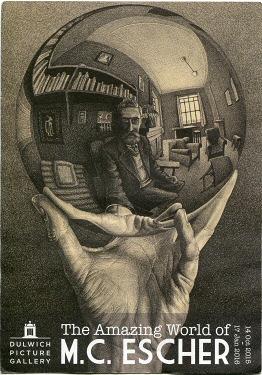 An Escher work featured on a retrospective of his work in 2015